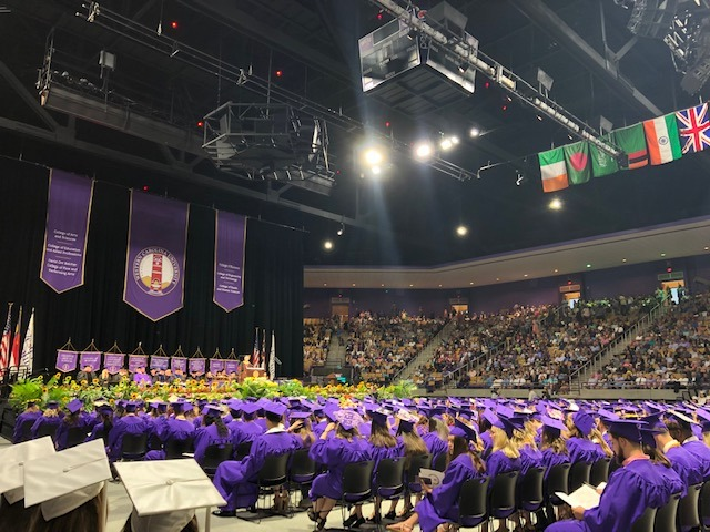 WCU graduation ceremony
