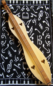 Dulcimer donated by Jim and Betty Woods