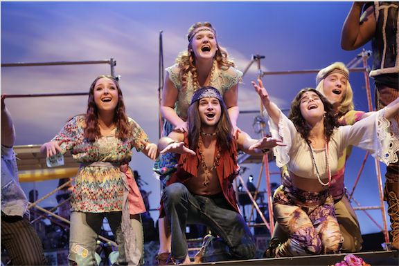Stage and Screen Students performing in Hair