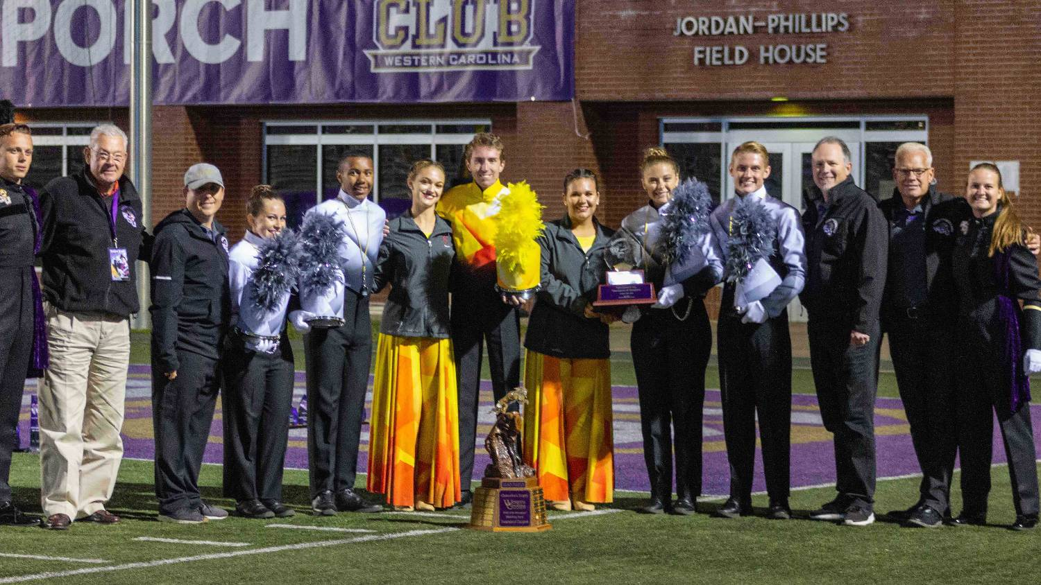 Whee Spin at Western Carolina University: Colorguard Clinic for high school students.