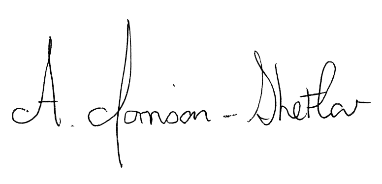 Signature of Acting Chancellor Alison Morrison-Shetlar