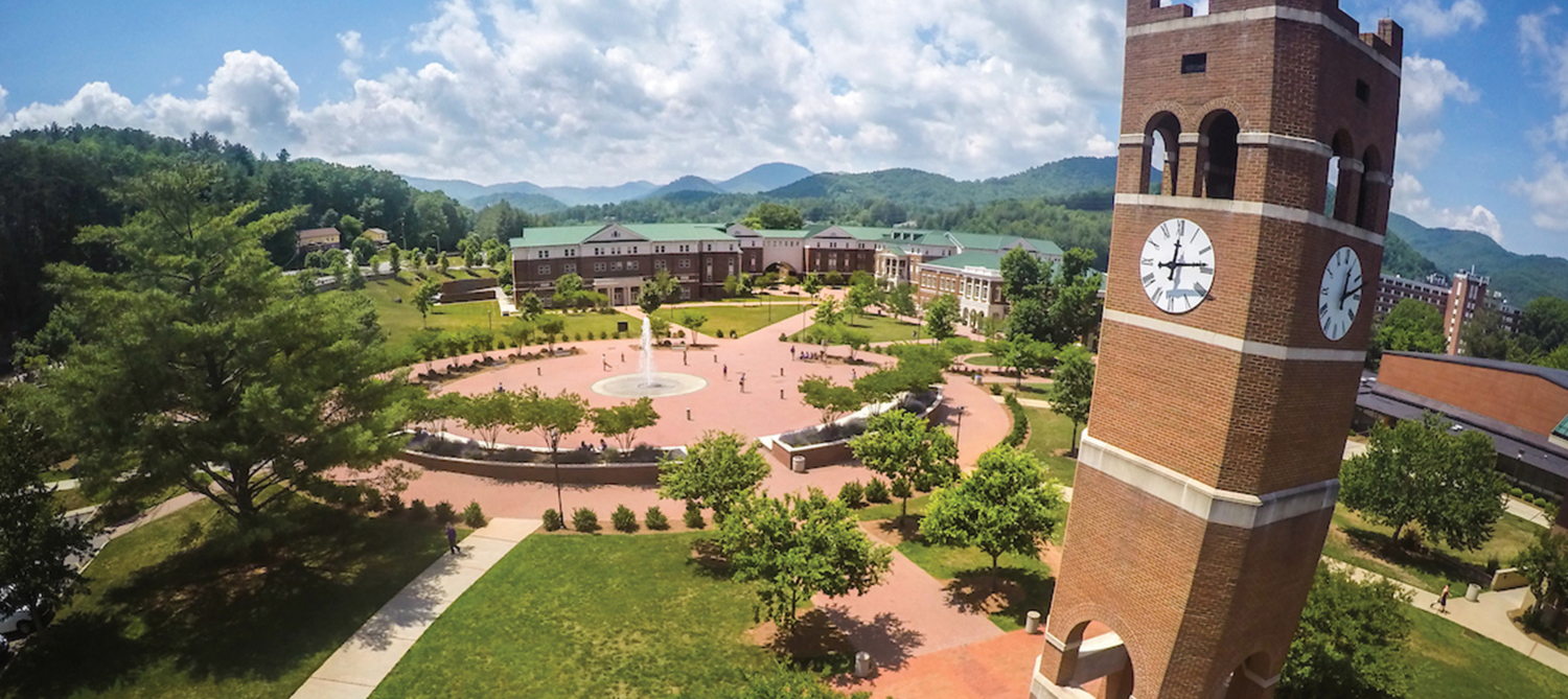 WCU campus in the summer season