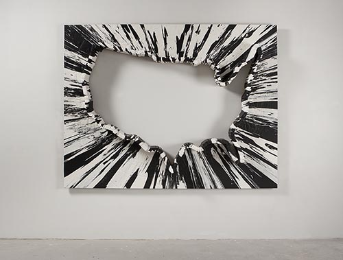 Randy Shull, Simultaneous Pattern, 2011, acrylic on wood panel, 73 x 96 x 8 inches