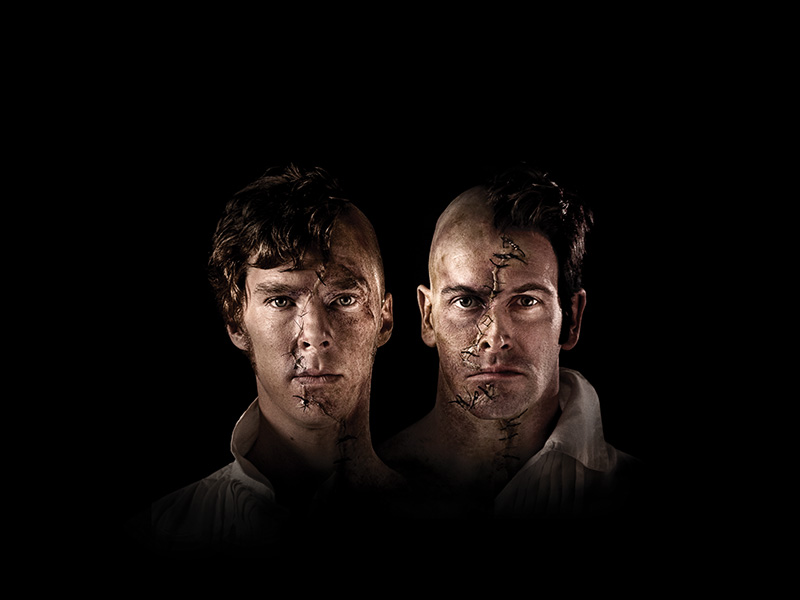 A promotional photo from Frankenstein with Benedict Cumberbatch as the lead actor.