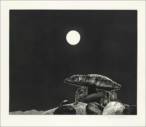 Claire Van Vliet, Kilclooney Night, 1998, vitreograph, 23.75 x 29.75 inches