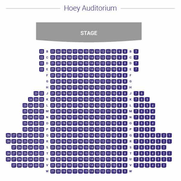 Hoey Auditorium Seating Chart