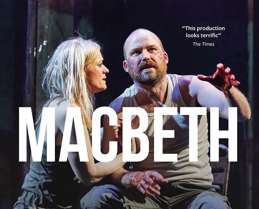 The National Theatre Live production poster for Macbeth.