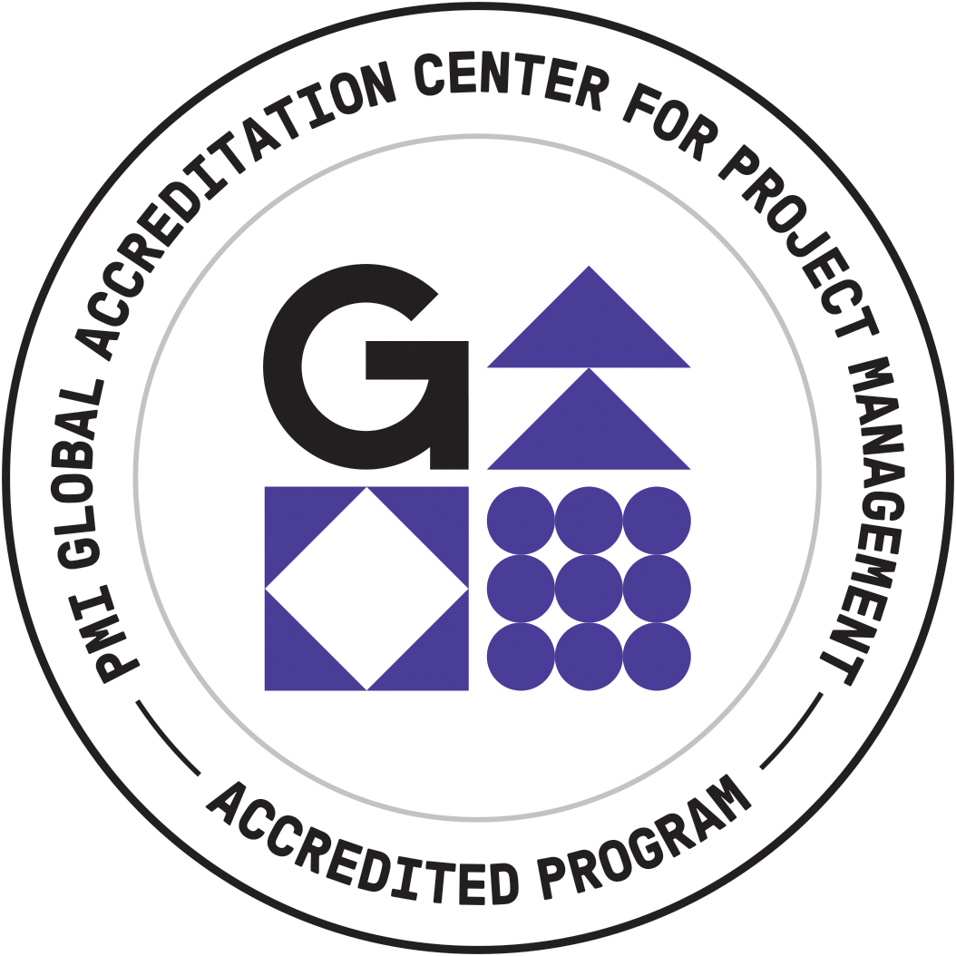 Accreditation Logo for the Masters of Project Management.