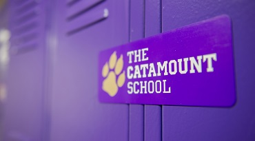 A locker at the Catamount School