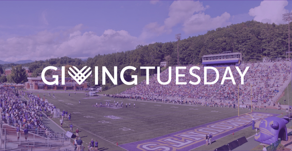 An image of the field with the giving tuesday logo
