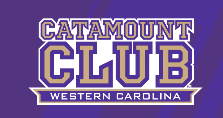 Catamount Club logo on purple
