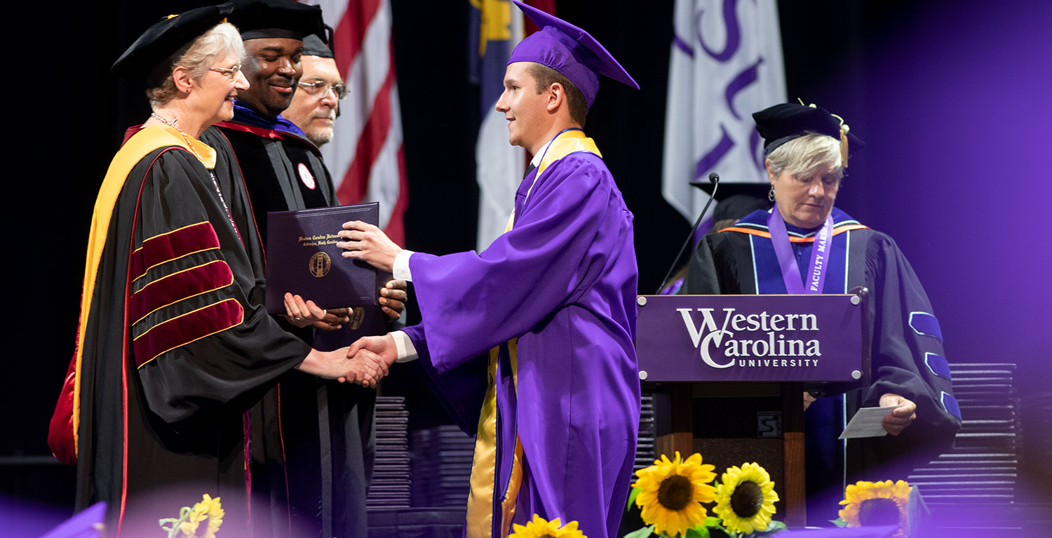 WCU Students at Commencement