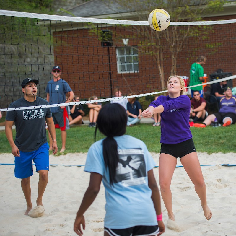 Intramural beach volleyball