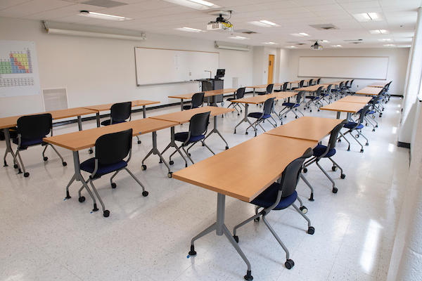 images of changes to classrooms on campus