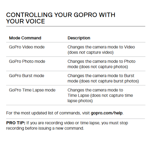 GoPro Fusion Voice Instructions part 1