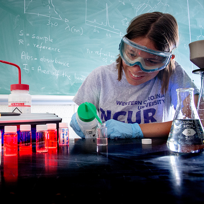 A student studying chemistry