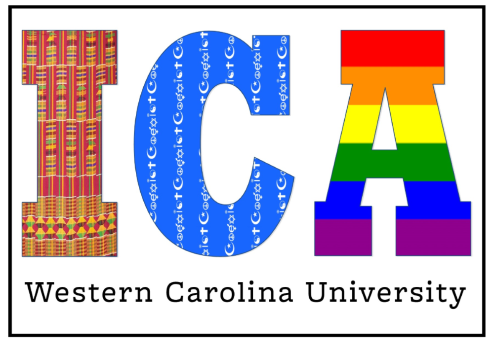 Letters I, C and A in different textiles and Western Carolina University underneath