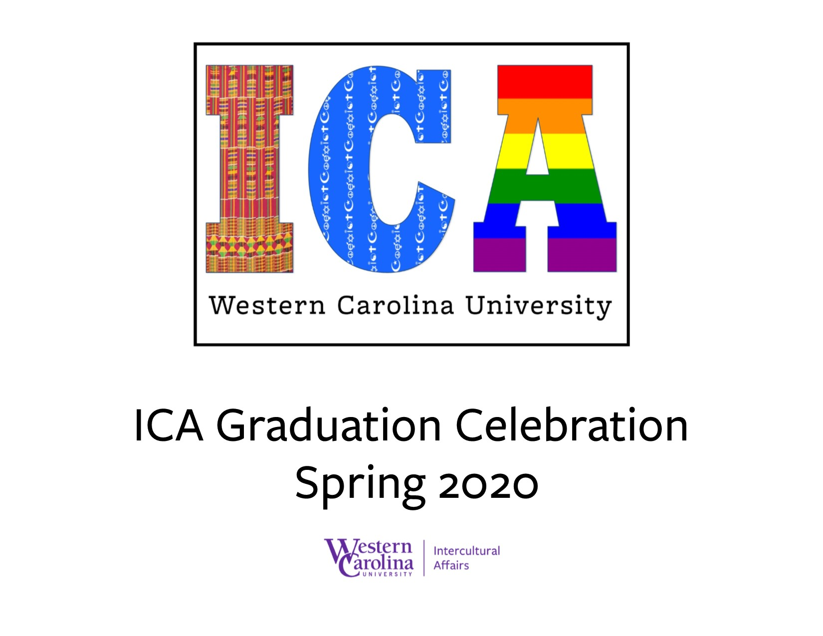 Photo of the cover of the Intercultural Affairs Spring 2020 Graduation Celebration Program