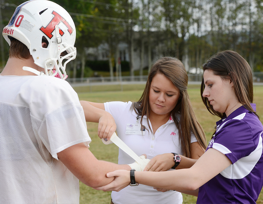 Pre-Professional Concentration, students in Athletic Training