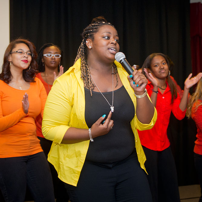 Members of WCU's Inspirational Gospel Choir perform during the university's 2015 Homecoming. This year's Homecoming concert will begin at 1 p.m. Sunday, Oct. 30, in the Grandroom of A.K. Hinds University Center.