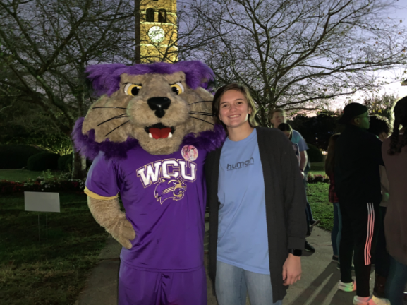 Photo of Katie Curic with Paws