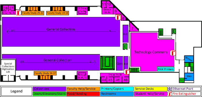 Library Ground floor location map