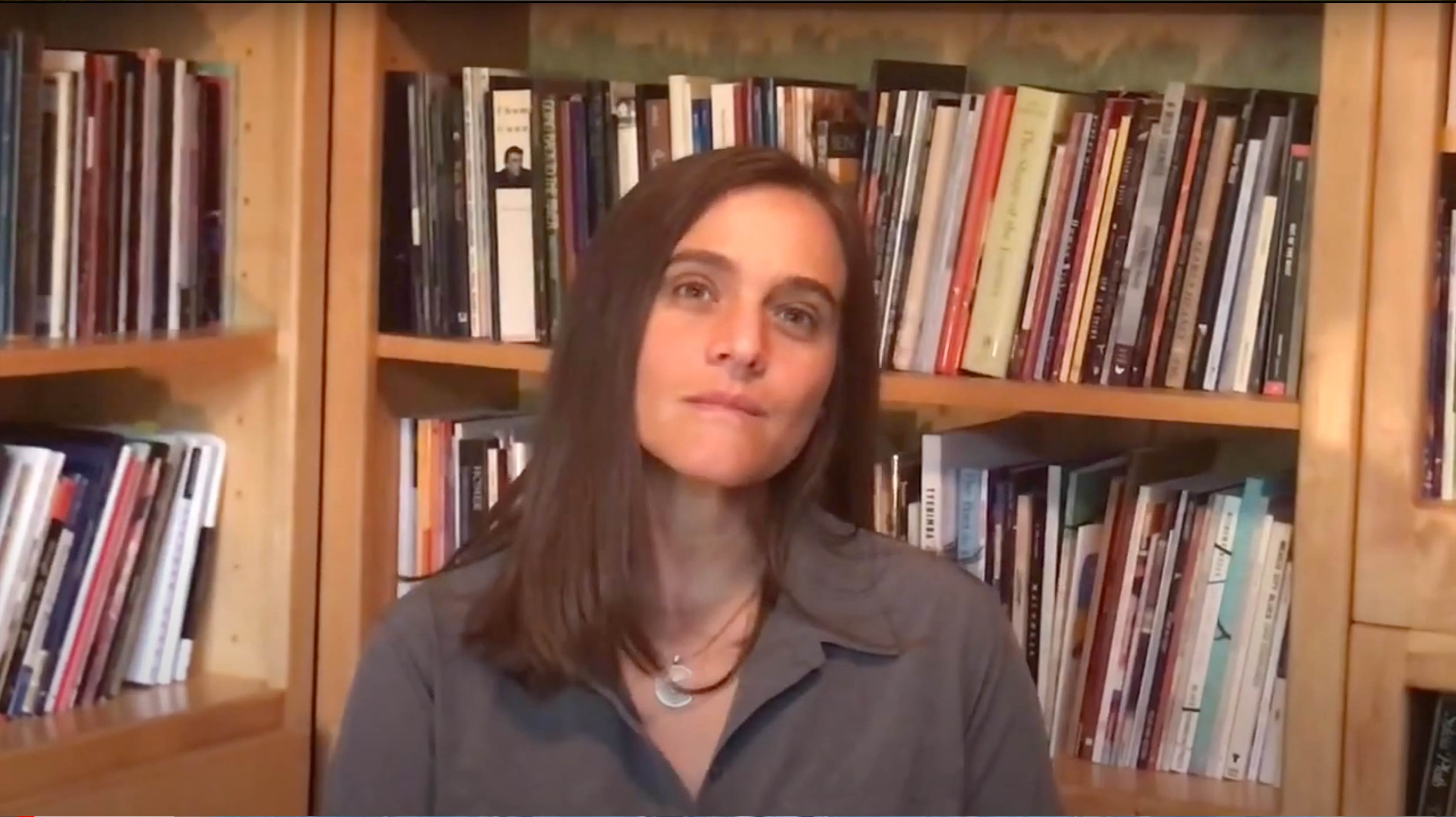 A screenshot of Jessica Jacobs reading her poem in this video