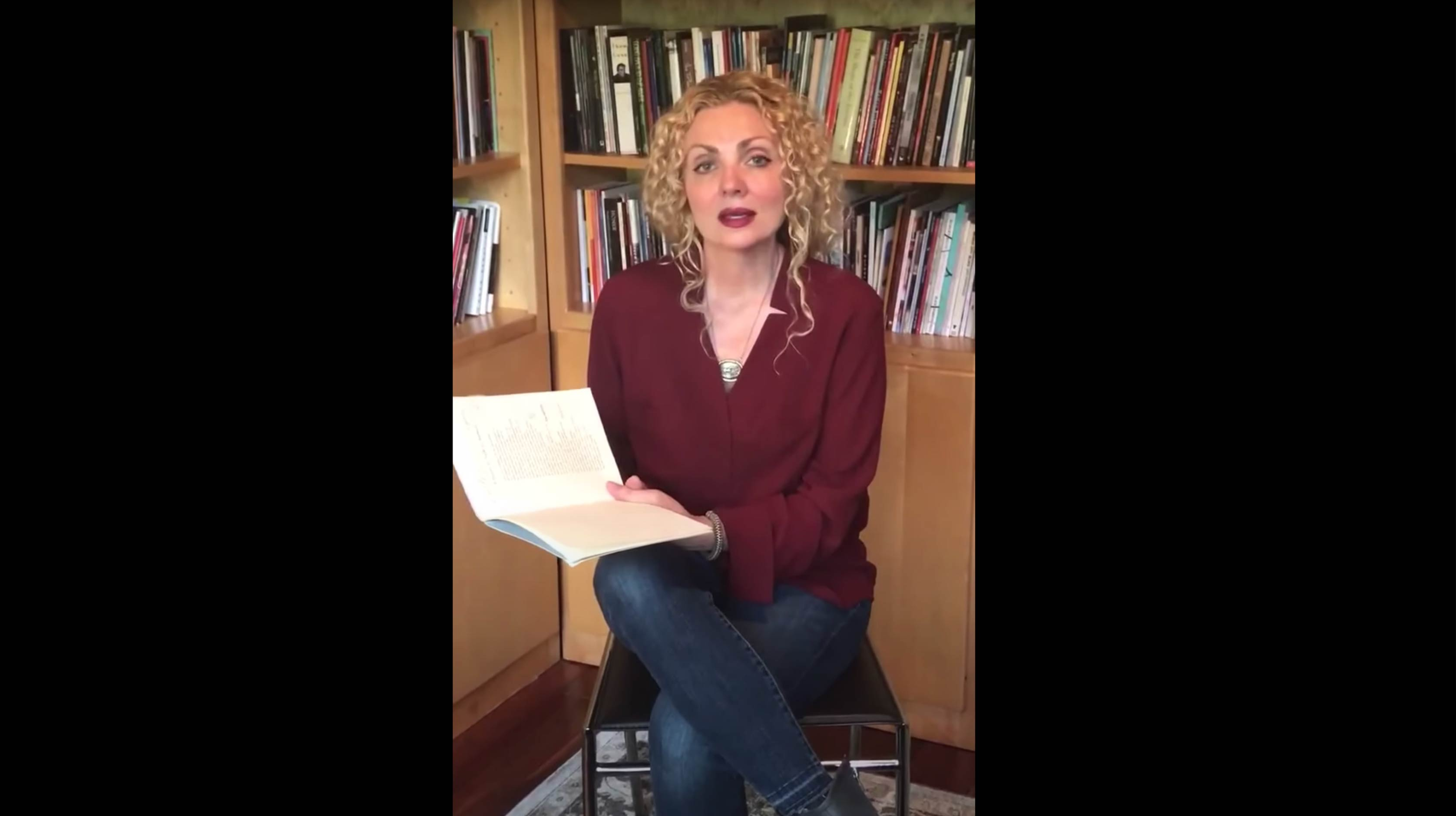 A screenshot from this video of Nikole Brown reading poetry