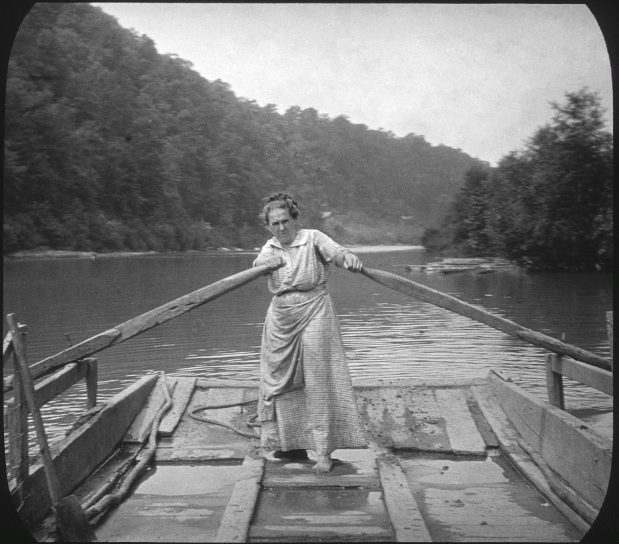 Woman Rowing from Cecil Sharp exhibit
