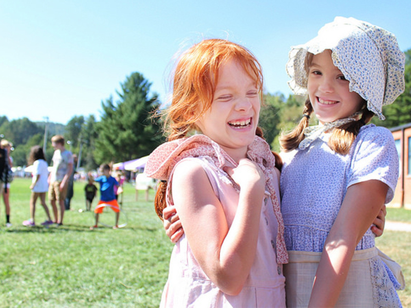 Children at Mountain Heritage Day