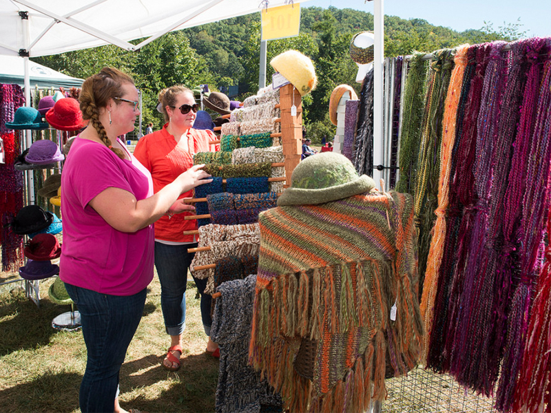 Vendors at Mountain Heritage Day