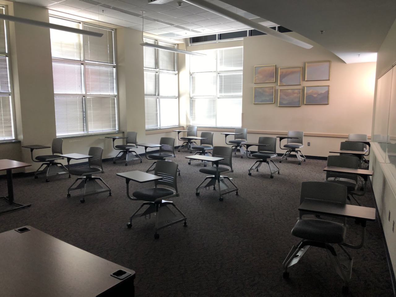Image of a class room post covid-19 pandemic
