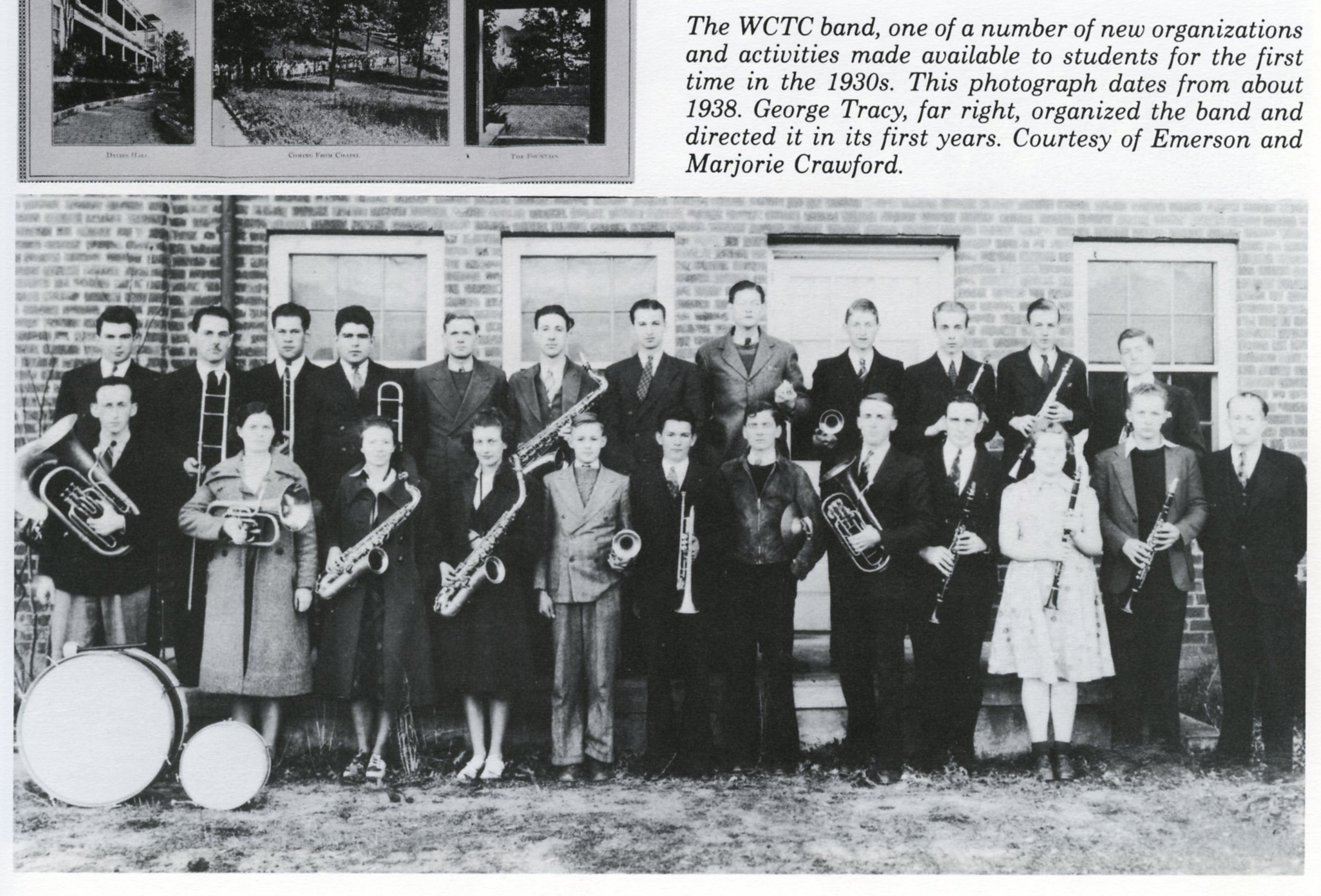 1938 Marching Band Archive Photo