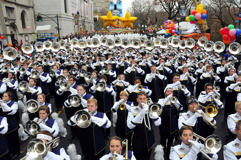 ride of the Mountains Marching Band in the Macy's Parade