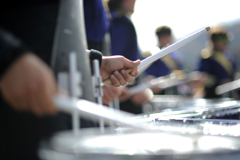 Marching Band - snare closeup