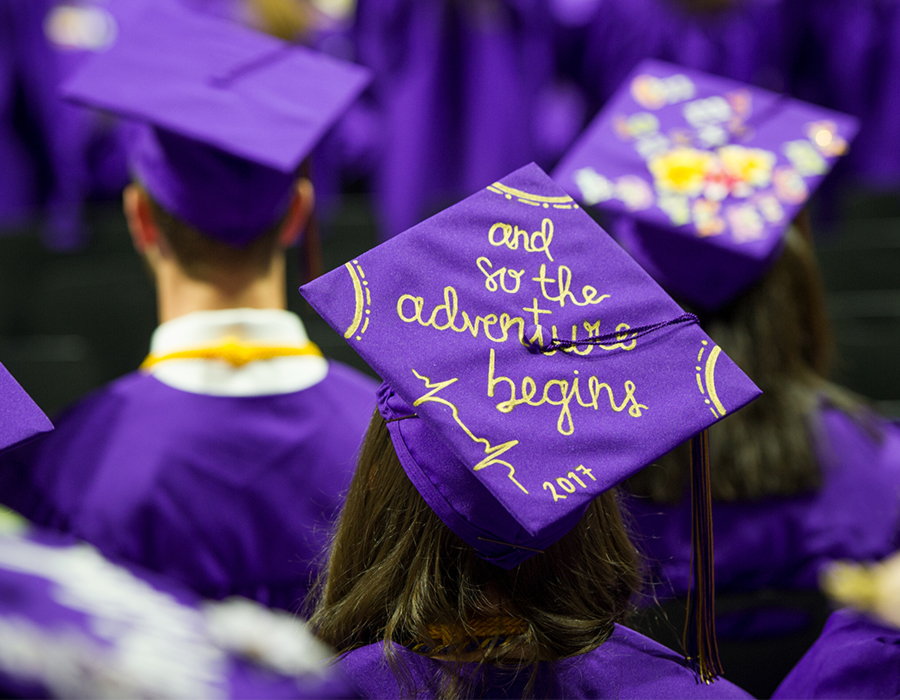 WCU Students at Commencement.