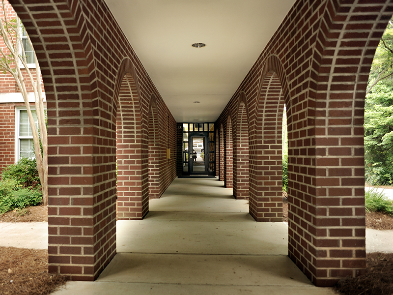Walkway in to Madison Hall