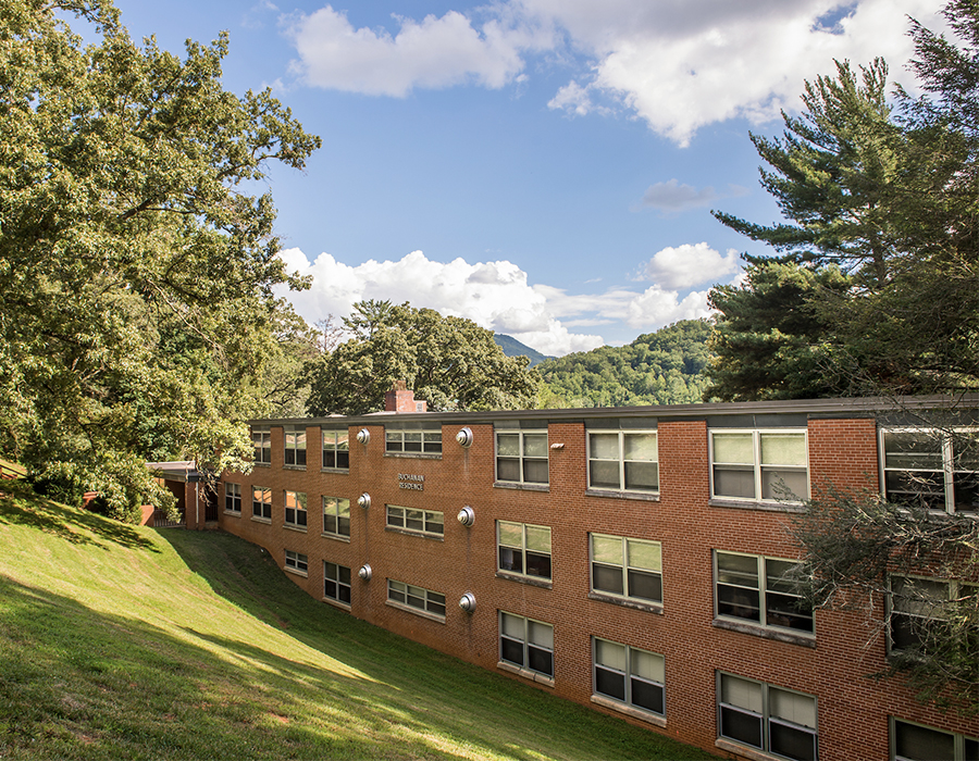Buchanan Residence Hall from upper campus