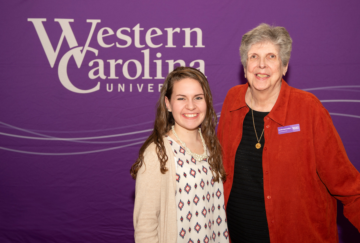 Sandi McCracken with scholarship recipient