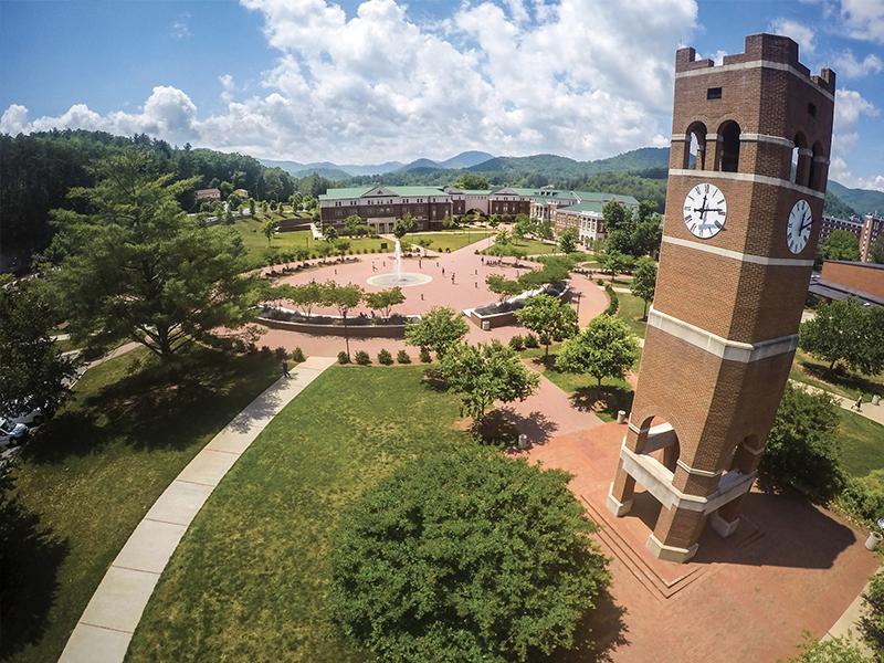 WCU Campus Aerial View