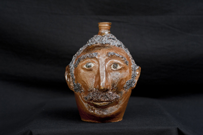 R. Hamilton Brown Face Jug - click to see larger image