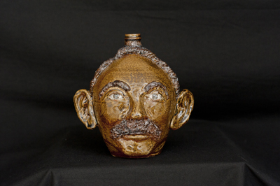 William A. Henson Face Jug - click to see larger image