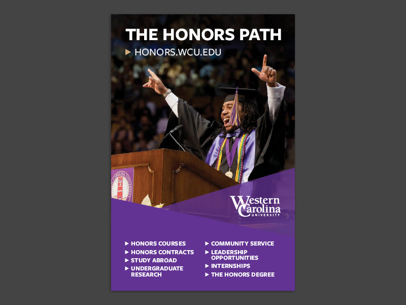honors ad with a purple anchor element