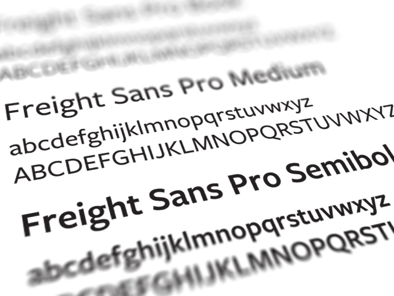 image of our brand fonts