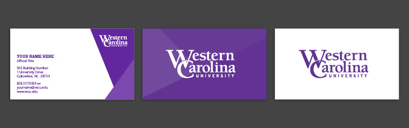 WCU branded business cards