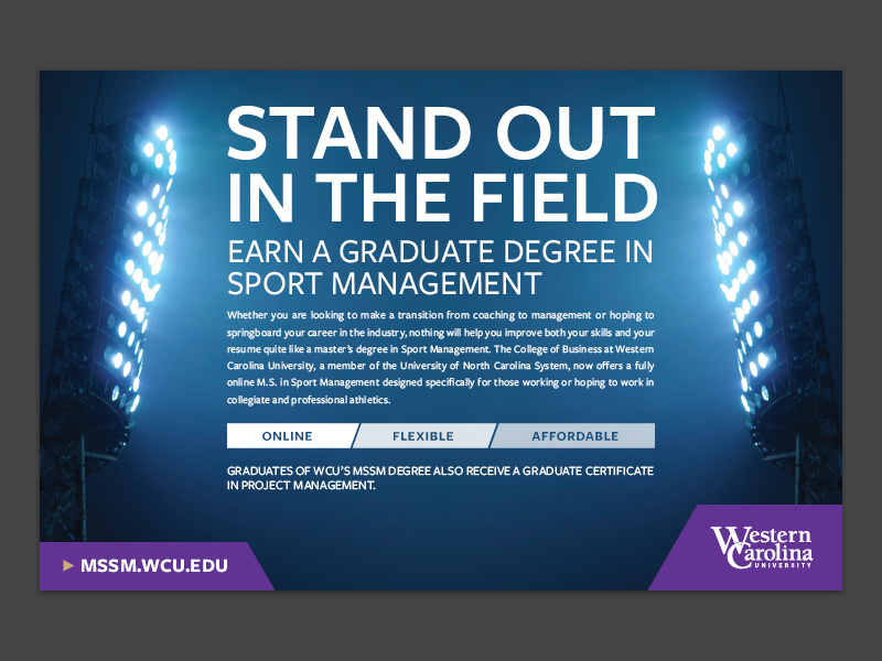 sport management print ad