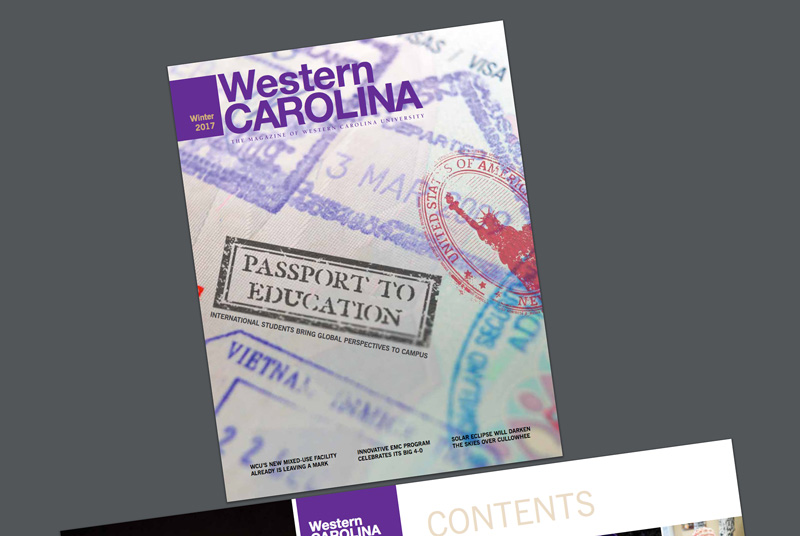 Winter 2017 edition of the Western Carolina Magazine