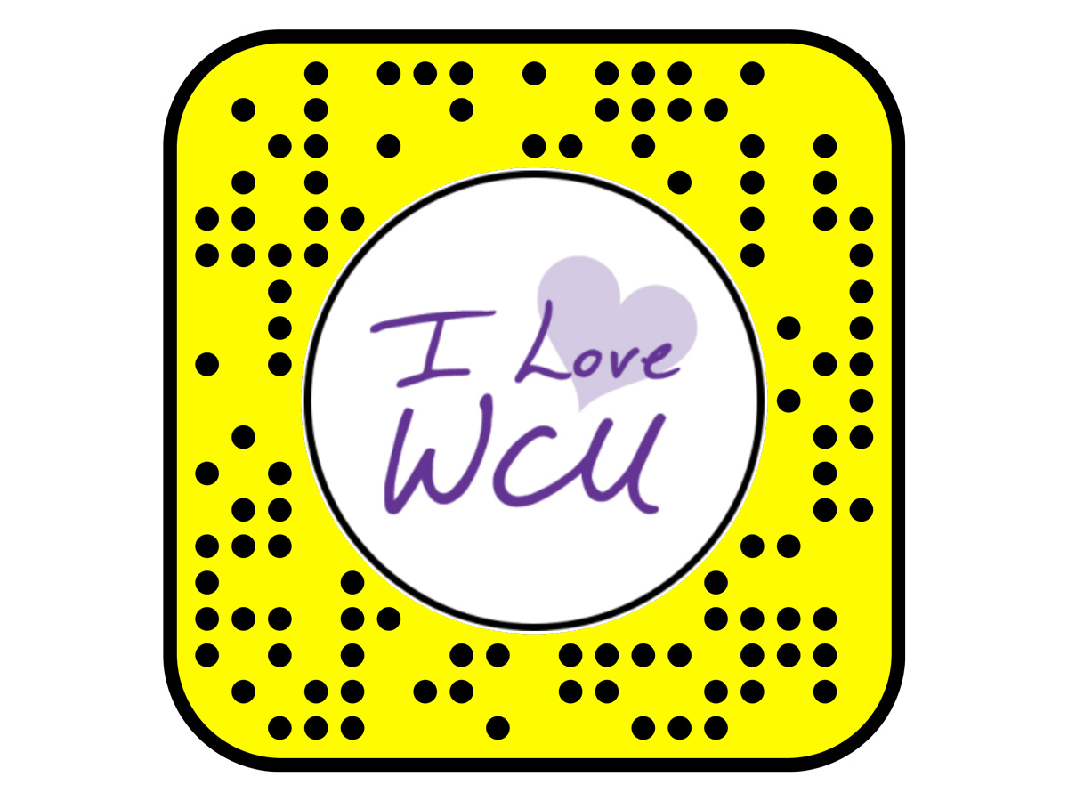 Snapcode for I Love WCU Snapchat Lens