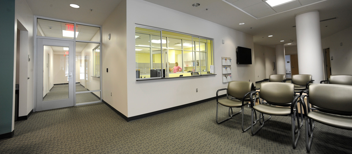 Clinic waiting room in the Health and Human Sciences Building