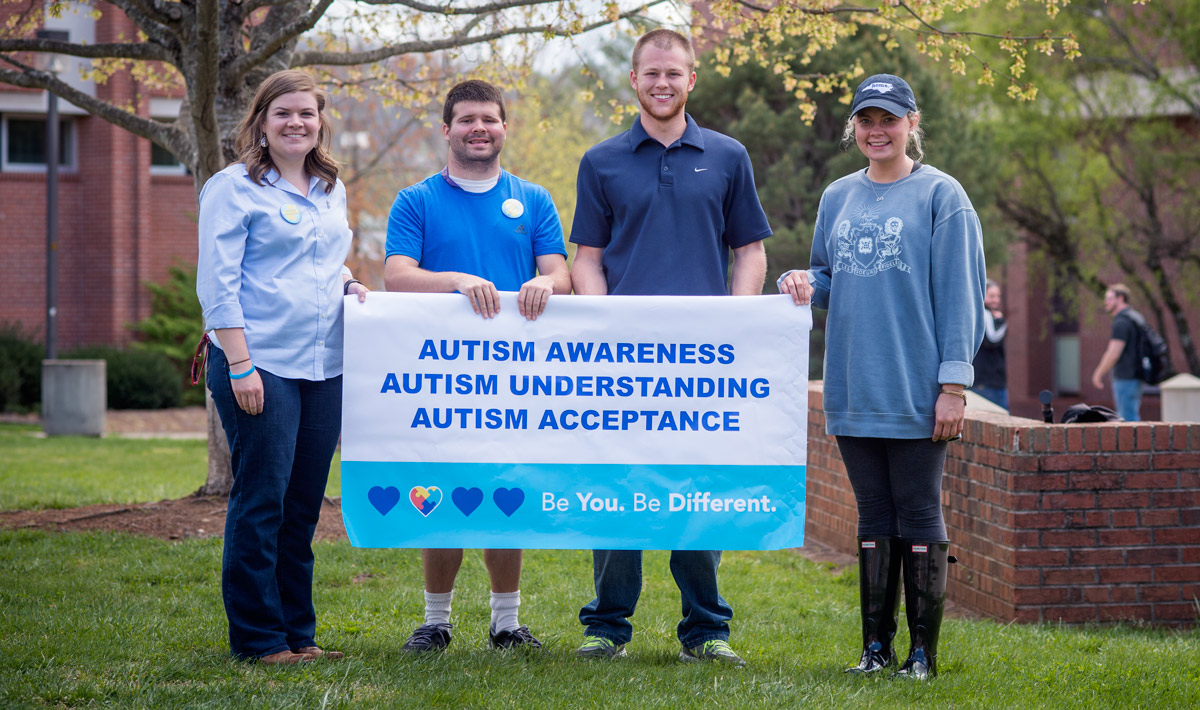 Students during Autism Awareness Week